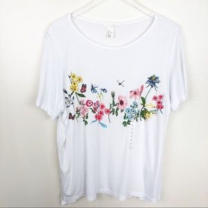 H&M l Flower Graphic Tee